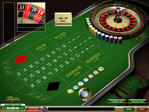 Casino Tropez French Roulette Preview