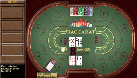 Cryptologic Full Table Baccarat