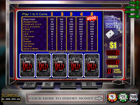 Realtime Gaming Double Double Bonus Poker Preview