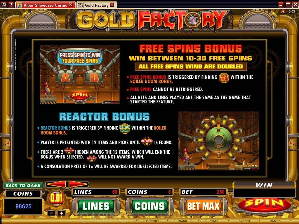 Gold Factory Game