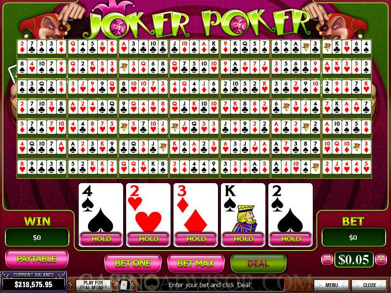 online casino games joker casino