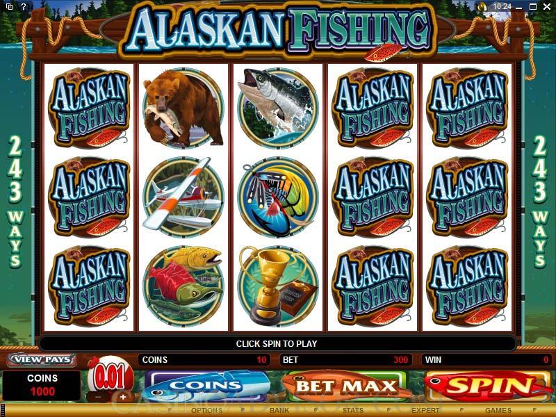 Microgaming alaskan fishing casino video slot game review for Fishing bob slot machine