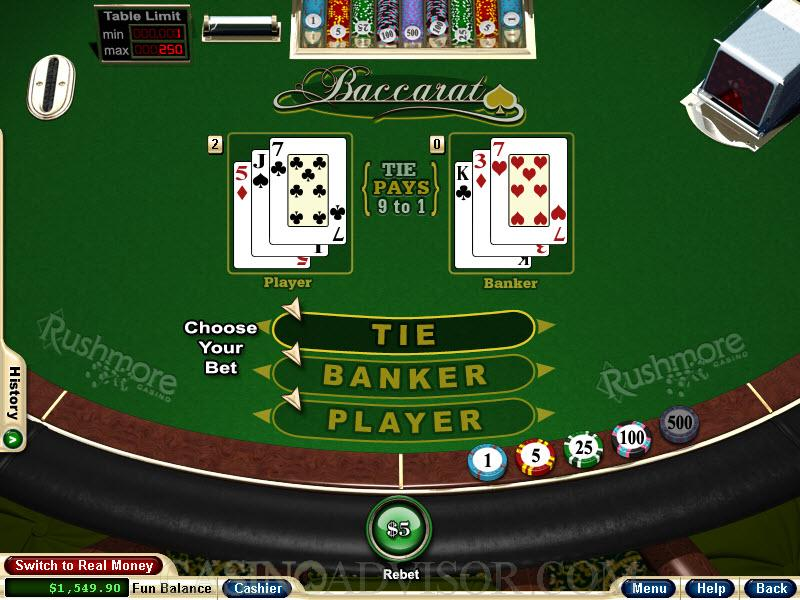 Real time baccarat gambling sites bartlesville casino