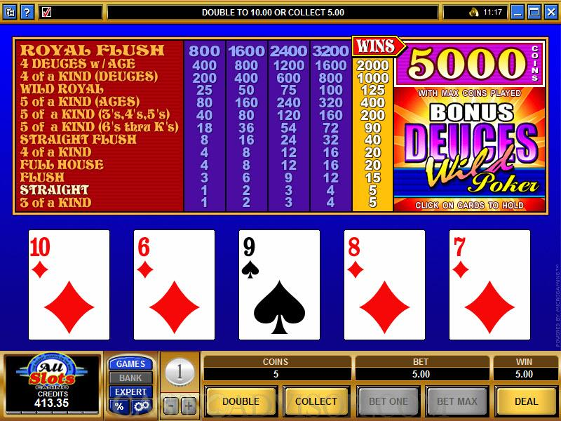 Free slots video poker deuces wild nancy baccarat train