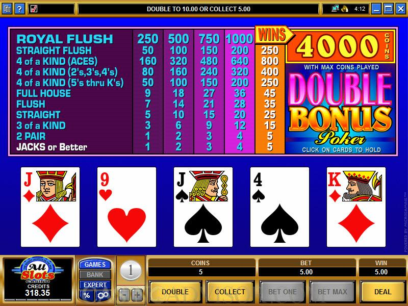 atlantis casino online video poker double bonus