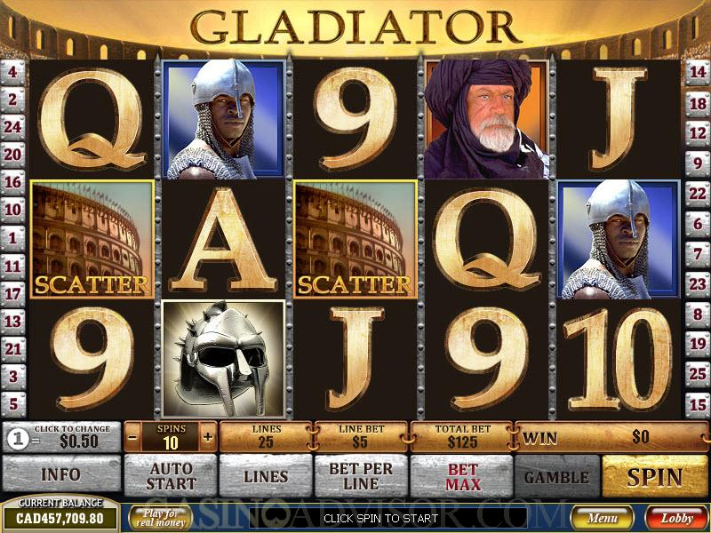 casino game gladiator