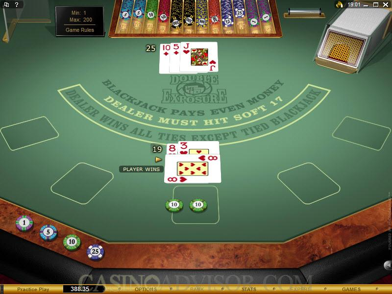 Double Exposure Blackjack Multihands