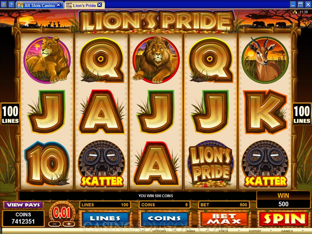 PLAY 50 Lions FOR REAL MONEY AT