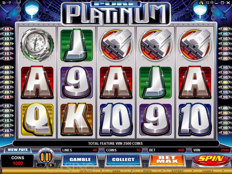 Pure Platinum slot – et gratis Microgaming spil