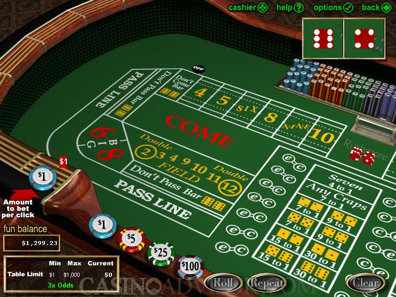 sands online casino dice and roll