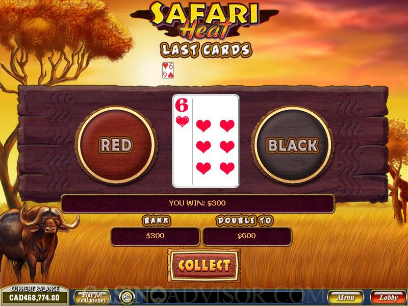 Play Safari Heat Slots Online at Casino.com NZ