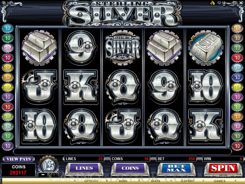 Sterling silver casino fantacy casino