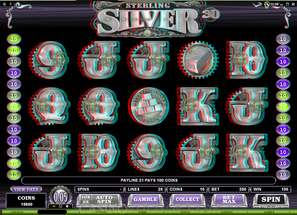 microgaming sterling silver 3d video slot game review