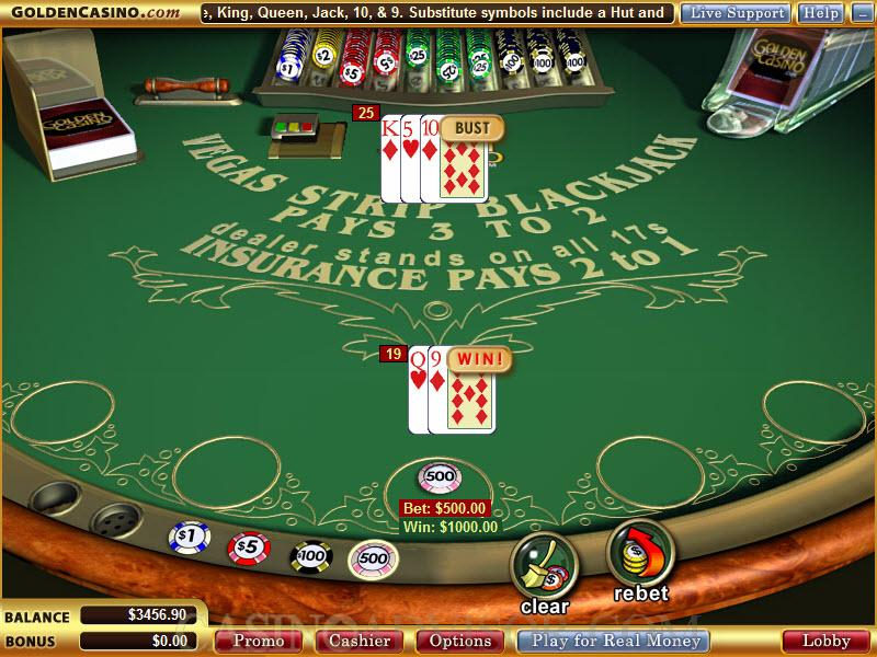 Blackjack strategy games