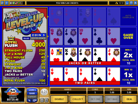 Level Up Video Poker