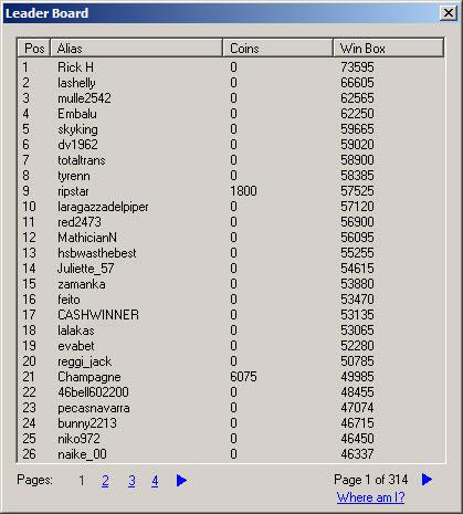 Таблица лидеров турниров по микрогеймингу