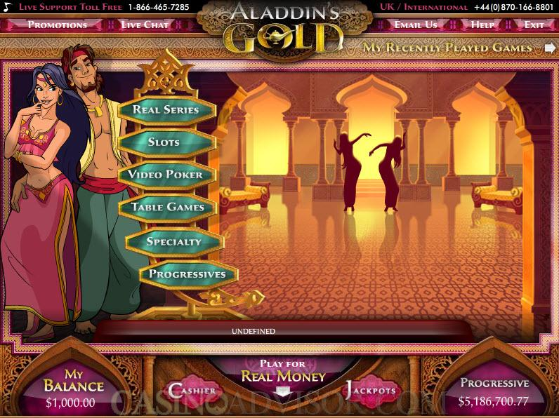 aladdins gold slot bonus