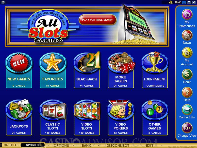 all slot casino