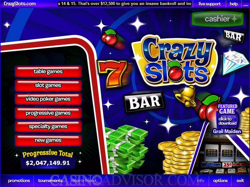 online casino gambling site crazy slots casino