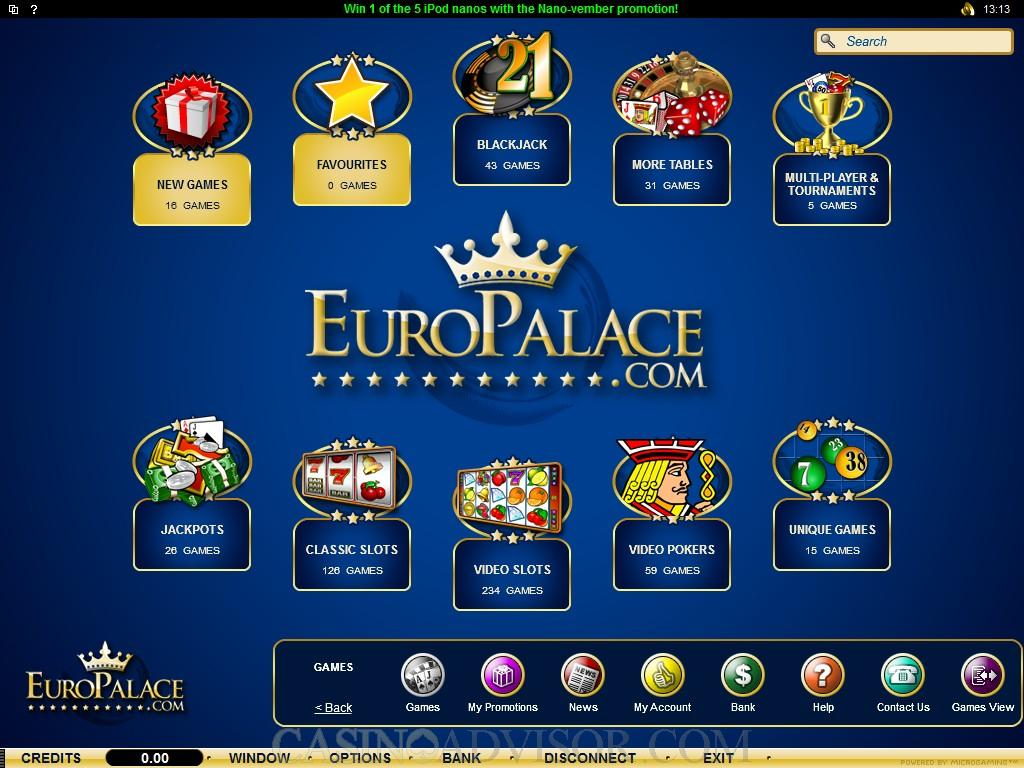 Play exciting reel slots | Euro Palace Online Casino