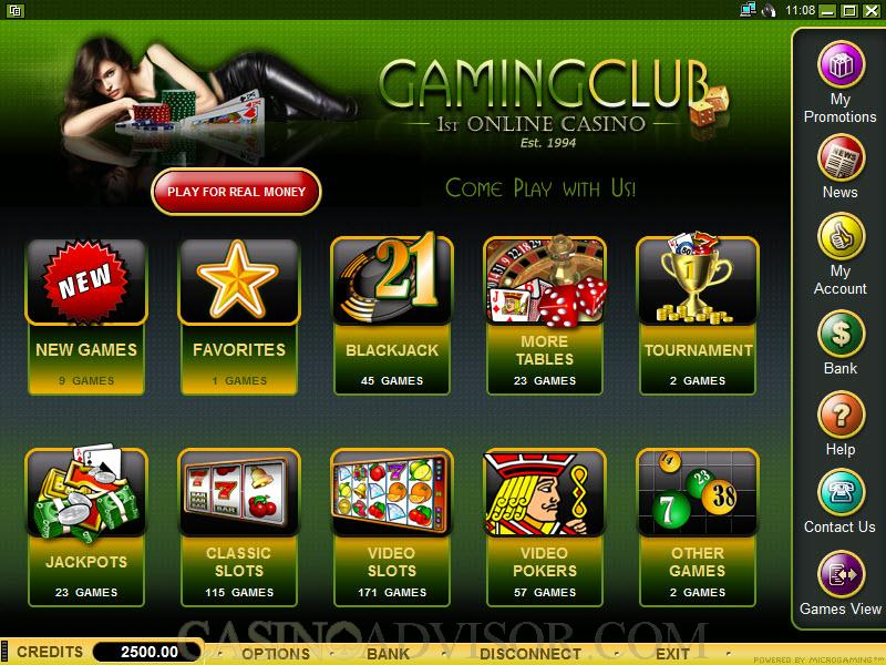 the gaming club casino online