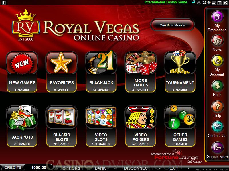 royal casino online games