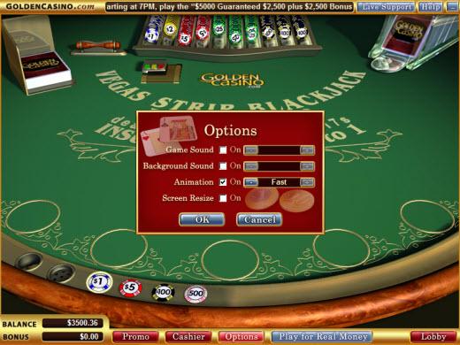 Скриншот настройки онлайн-казино Vegas Technology
